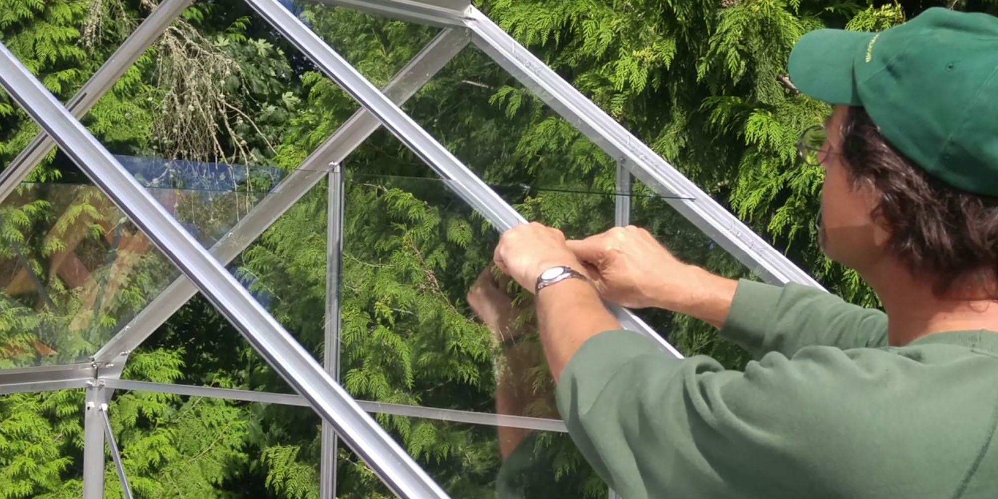 Cut Glass for Greenhouse