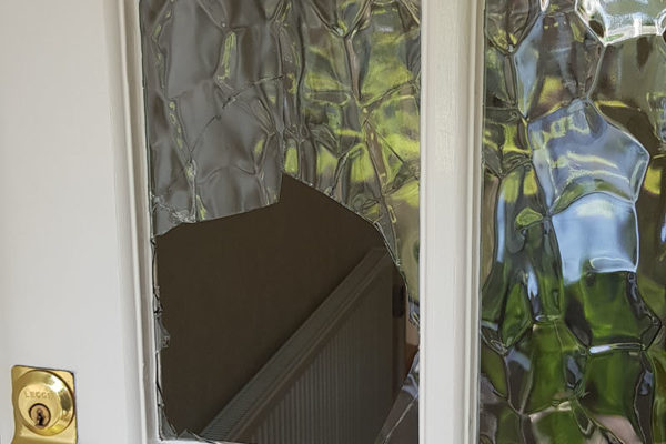 Broken Door Window Repair
